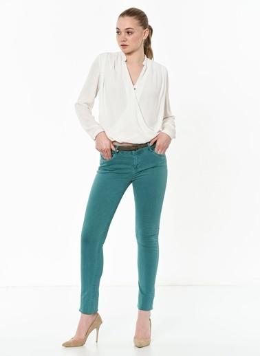 T-Box Slim Fit Pantolon Petrol